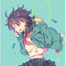 Otaku anime girl